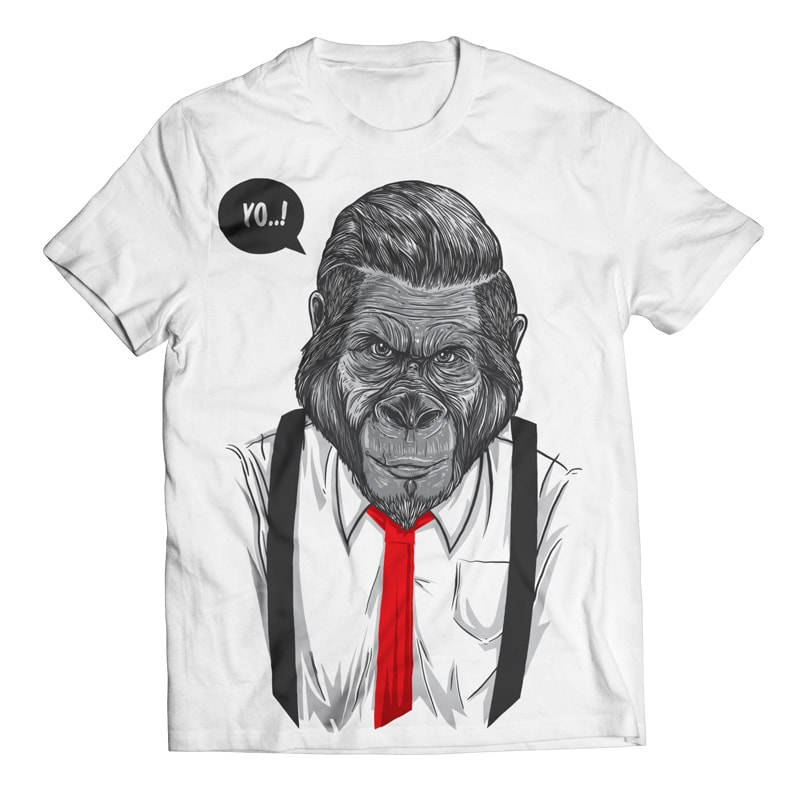 Slick Ape - Gorilla Business buy t shirt design