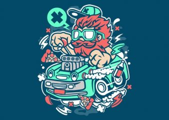 Smoking Hotrod t shirt template vector