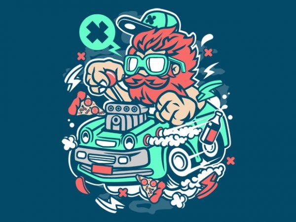 Smoking Hotrod buy t shirt design