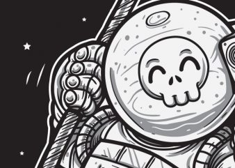 Space Joy - Astronaut Skull buy t shirt design