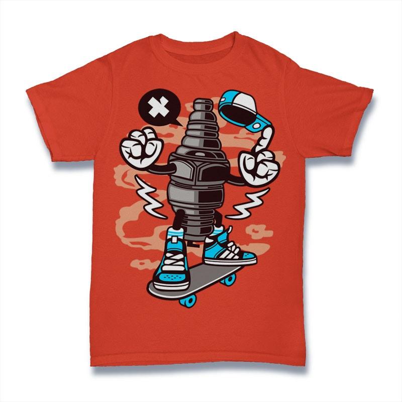 Sparkplug buy t shirt design