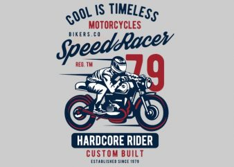 Speed Racer Motorcycles t shirt template vector