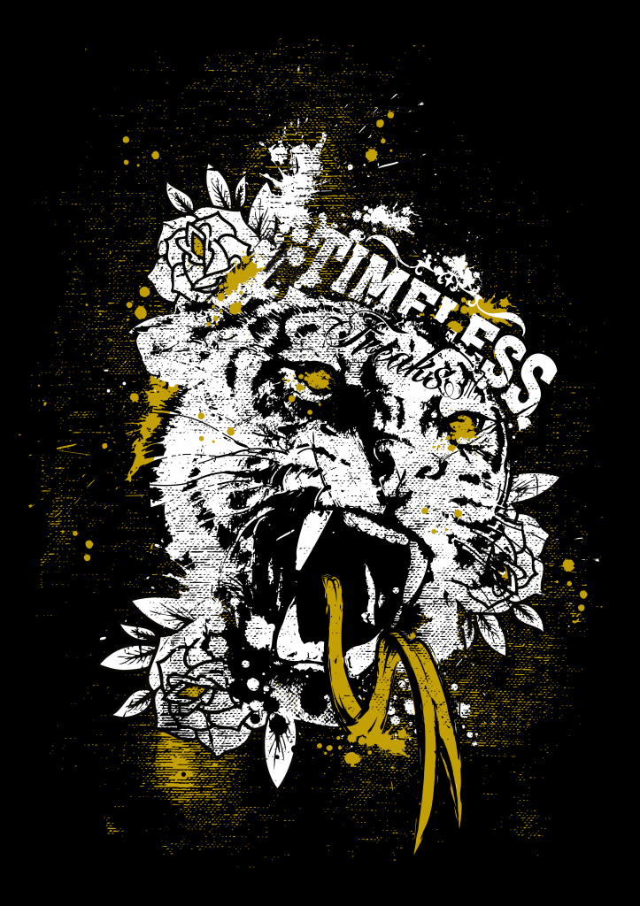 Timeless Freaks Tiger Tshirt Design buy t shirt design
