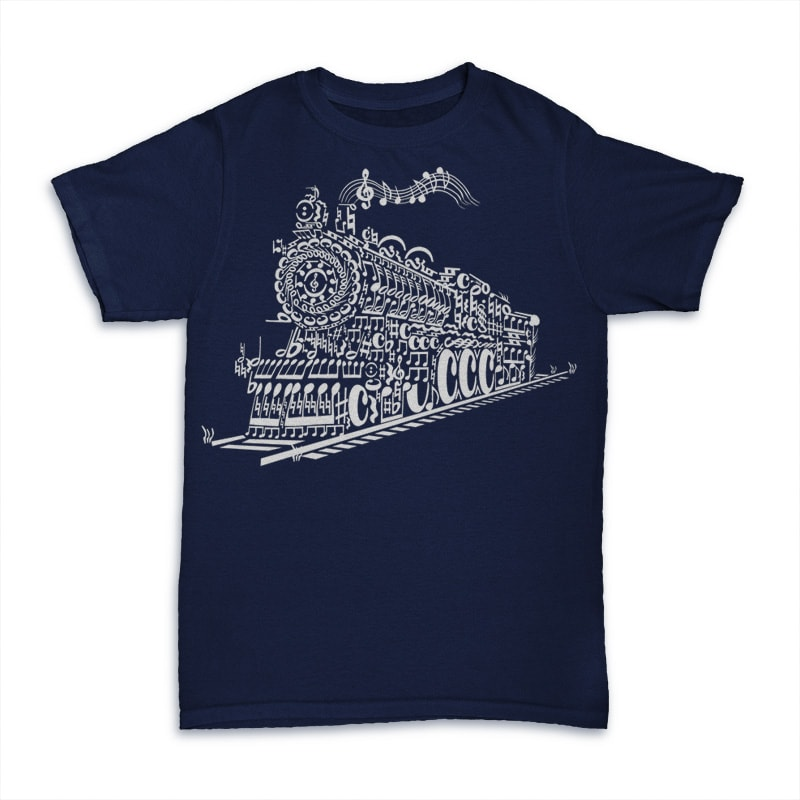 Train Song buy t shirt design