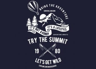 Try The Summit buy t shirt design