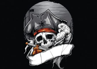 PIRATE t shirt illustration
