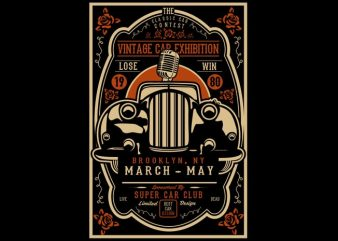 Vintage Car Exhibition t shirt vector art
