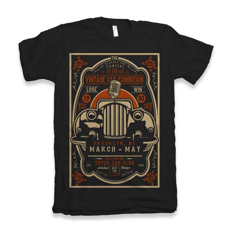 Vintage Car Exhibition buy t shirt design