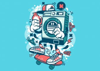 Washing Machine t shirt design for sale