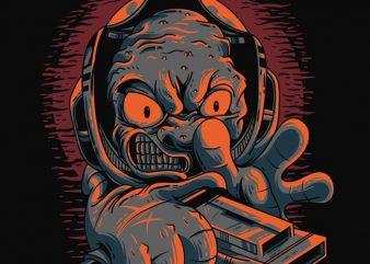 Alien Shooter t shirt vector