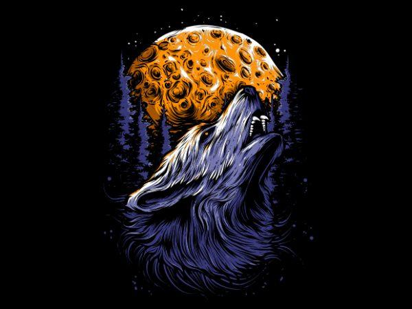 WOLF buy t shirt design