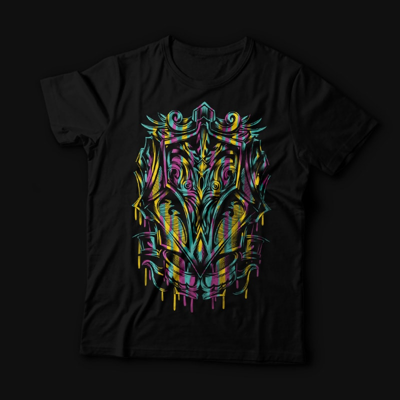 Colorful Ornament buy t shirt design