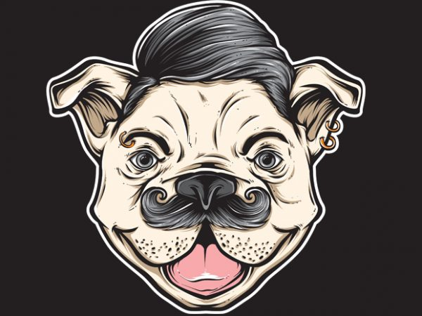 DOG t shirt vector illustration