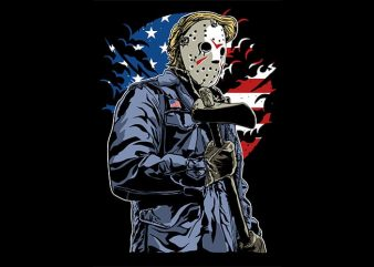 American Killer T shirt design
