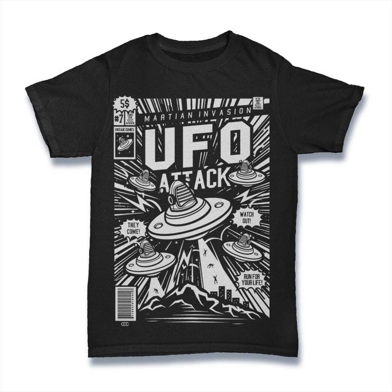 Ufo Attack buy t shirt design
