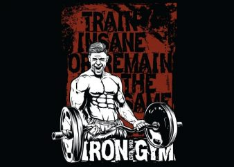 Train Insane Or Remain The Same t shirt designs for sale