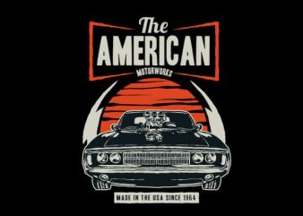 American Muscle Car buy t shirt design