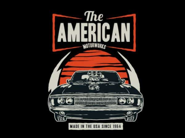 American Muscle Car  600x450 - American Muscle Car buy t shirt design