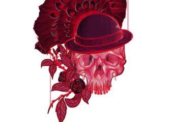 Death art t shirt vector illustration