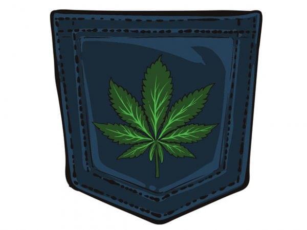 Marijuana pocket buy t shirt design