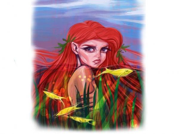 Mermaid t shirt designs for sale