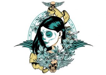 Muerte sagrada t shirt designs for sale