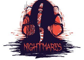 Nightmares buy t shirt design