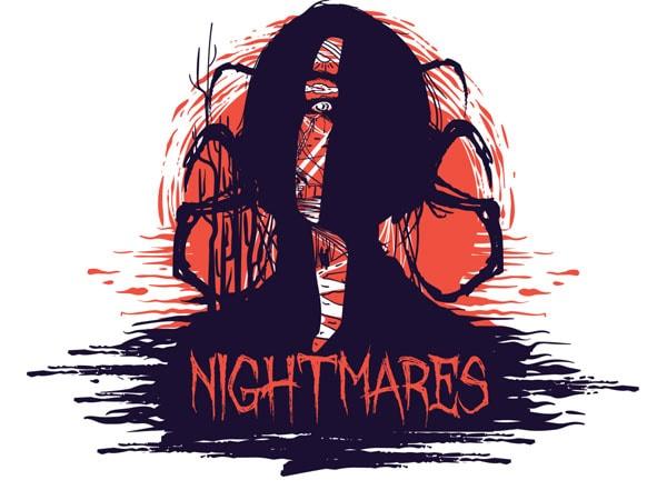 Nightmares tshirt design - Nightmares buy t shirt design