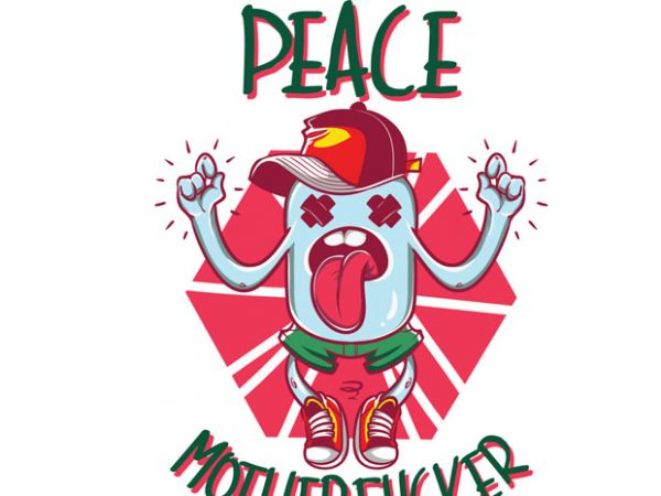 Peace Motherfucker tshirt design 600x450 - Peace motherfucker buy t shirt design