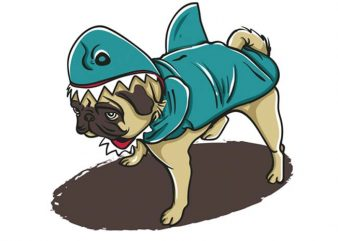 Pugyshark buy t shirt design