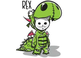 Purranysaurus rex t shirt illustration