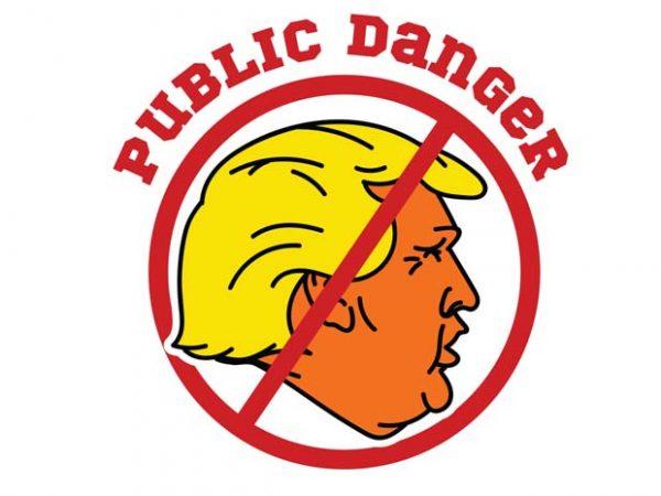 Public danger t shirt illustration