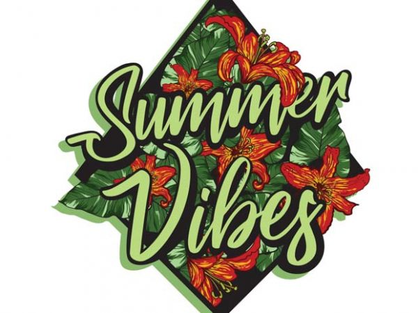 Summer vibes t shirt template vector