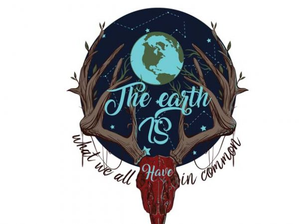 We have earth t shirt design for sale