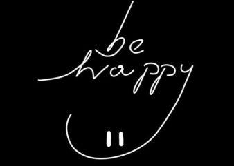 Be Happy buy t shirt design