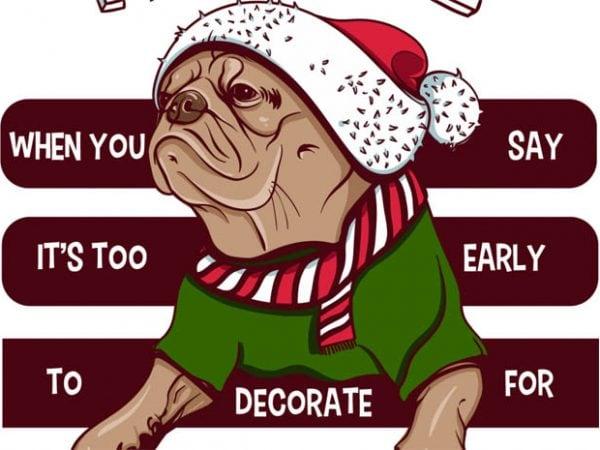 Santa pug buy t shirt design
