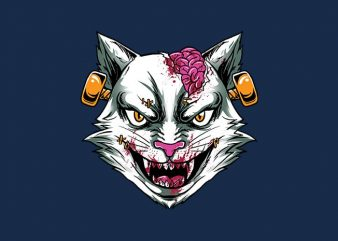 zombie stein head t shirt graphic design