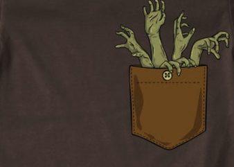 Zombie hands pocket buy t shirt design