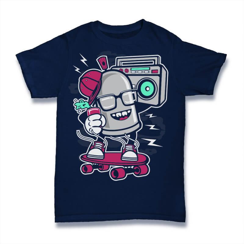 Street Bomber Graphic t-shirt design buy t shirt design