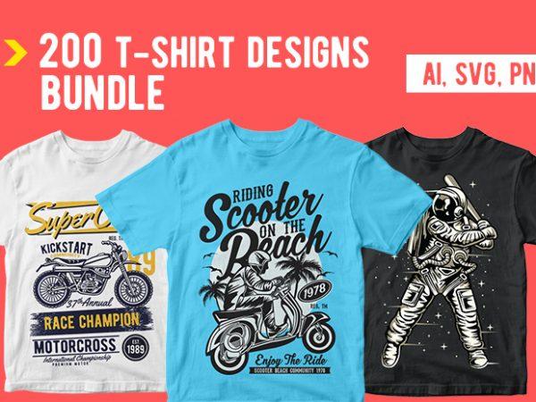 200 T shirt Designs Bundle