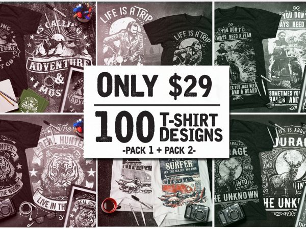 100 T-Shirt Designs Collection