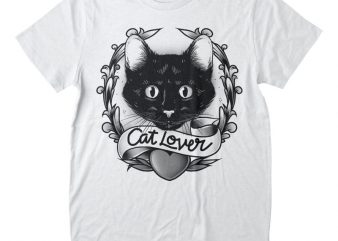 Cat Lover T-shirt Design
