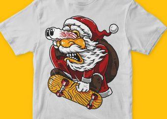 Santaskaters t-shirt design png