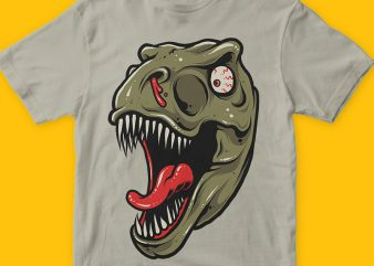 Scary Dino t-shirt graphic