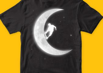 Skate in the moon t-shirt png