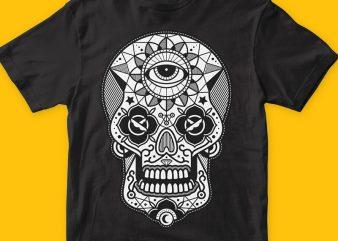 Skull Candy 2 t shirt template vector