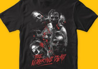 The walking dead t shirt designs for sale