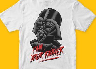 Vader t shirt vector art