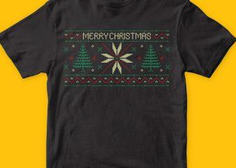 Xmas pattern graphic t shirt
