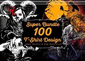 Super 100 T-shirt Design Bundle